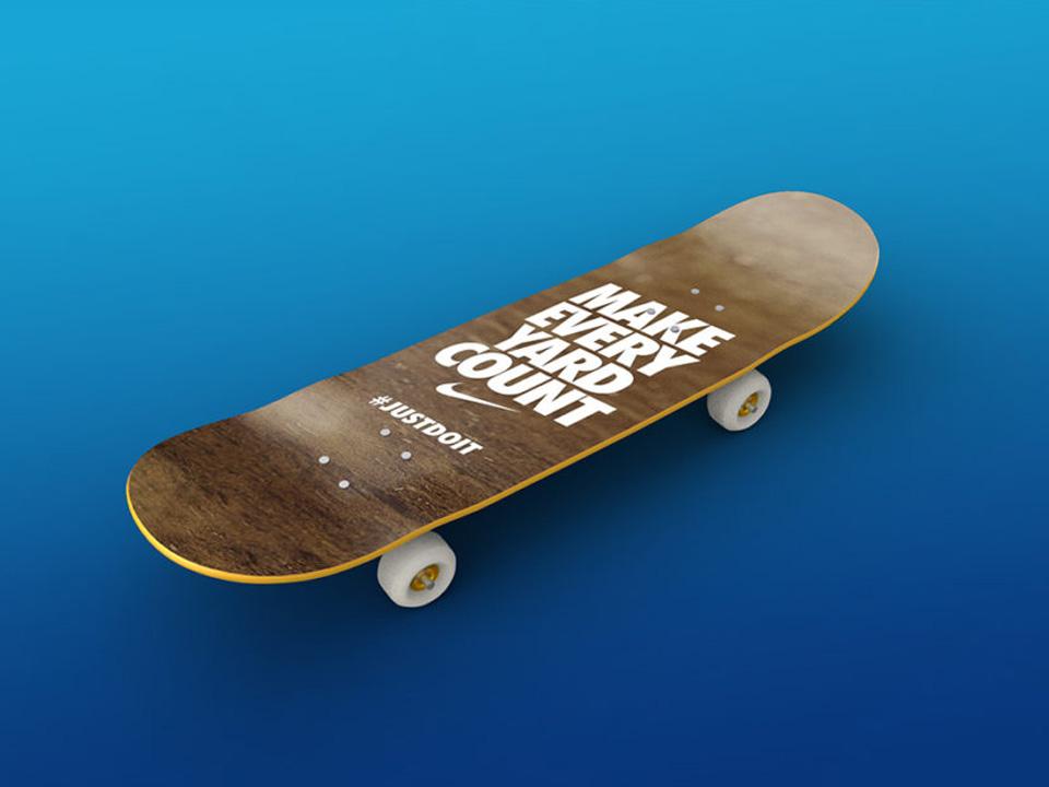 Free Skateboard PSD Mockup