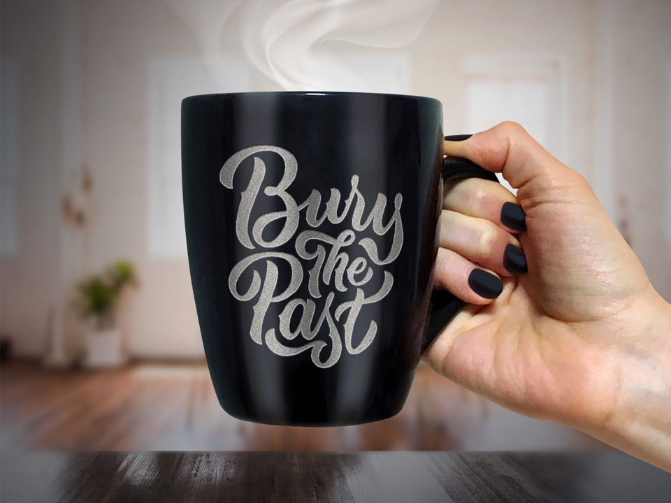 Hot Coffee Mug PSD Mockup