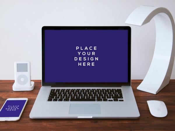 MacBook Pro Front View with iPhone Mockup  mockup, free mockup, psd mockup, mockup psd, free psd, psd, download mockup, mockup download, photoshop mockup, mock-up, free mock-up, mock-up psd, mockup template, free mockup psd, presentation mockup, branding mockup, free psd mockup