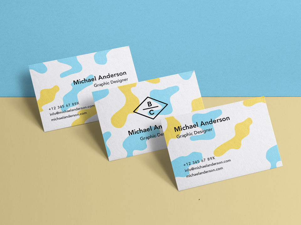 Multiple Business Card Mockup PSD