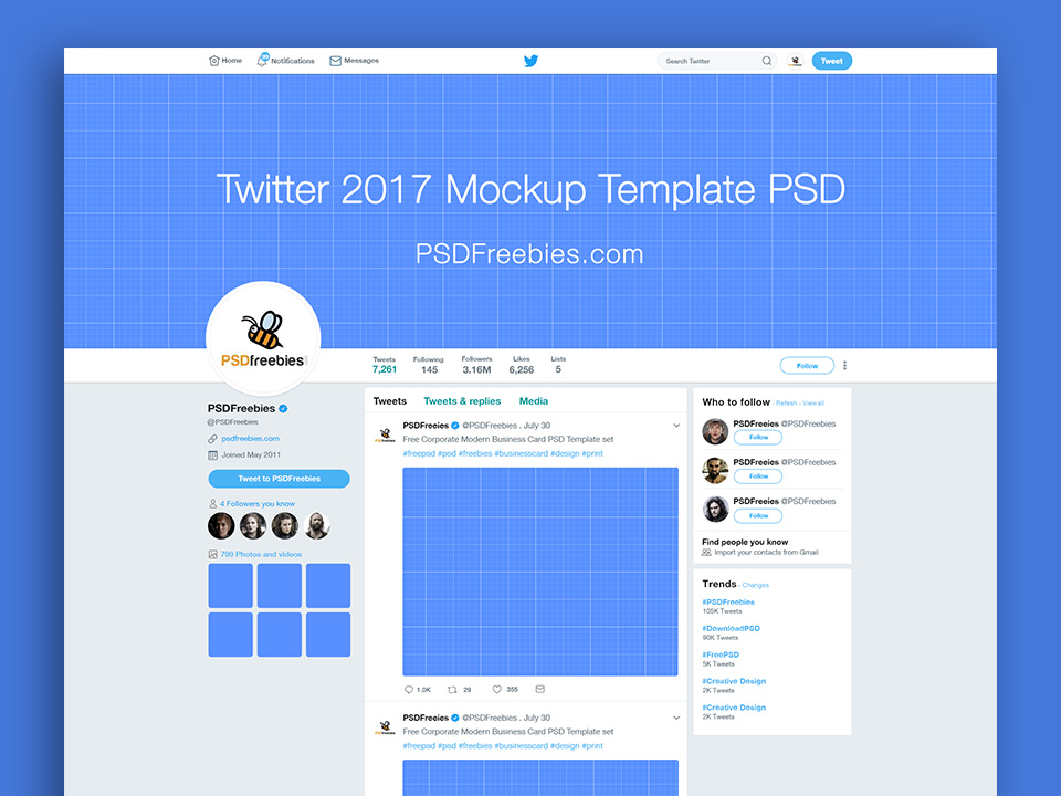 New Twitter 2017 Page Mockup
