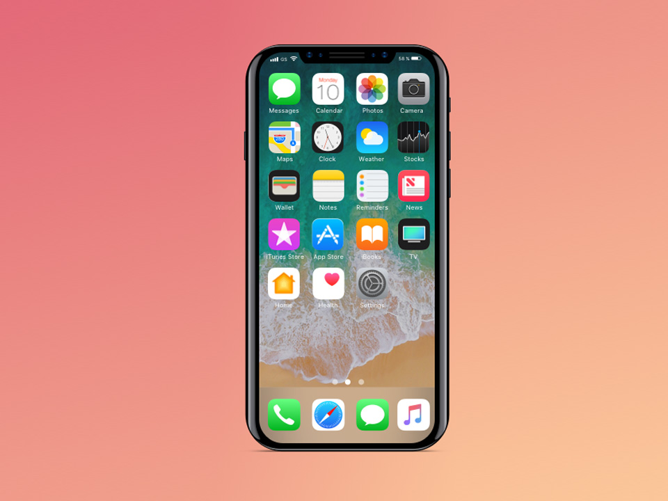 iPhone 8 Screen Sketch Mockup