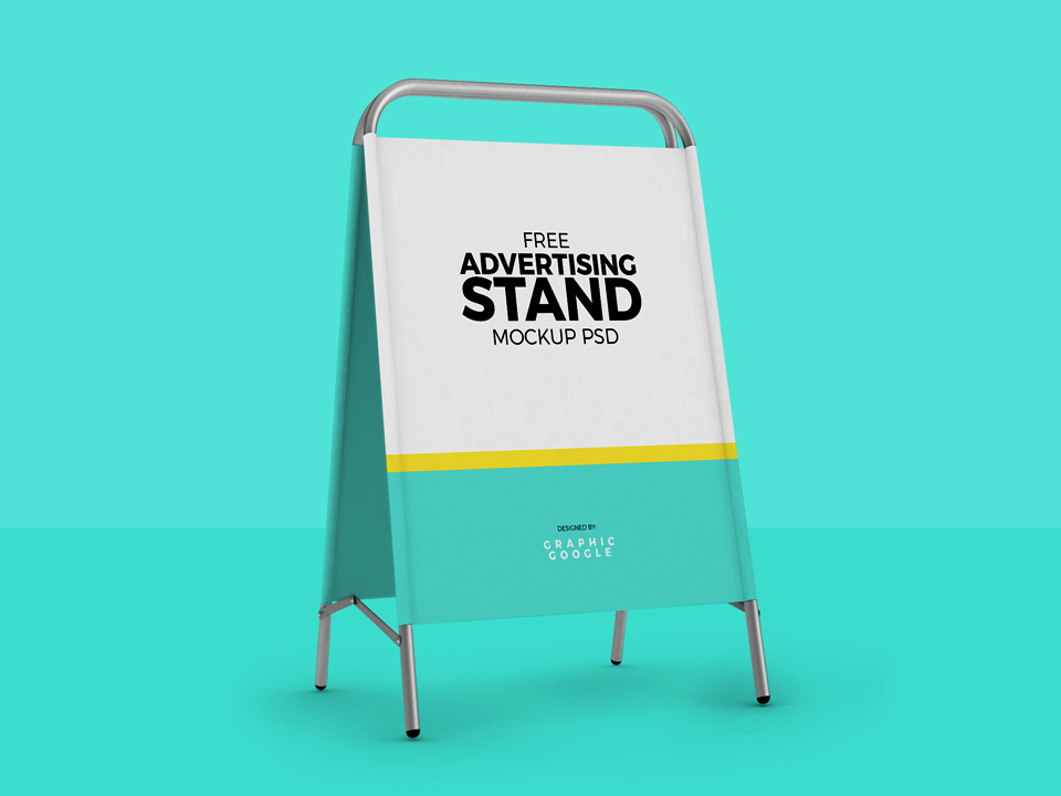 Advertising Stand Mockup PSD
