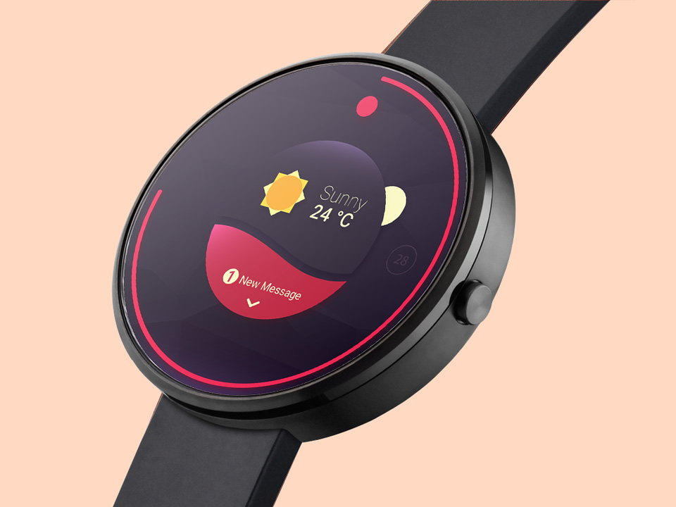 Android Wear Smartwatch Mockup - Mockup Love