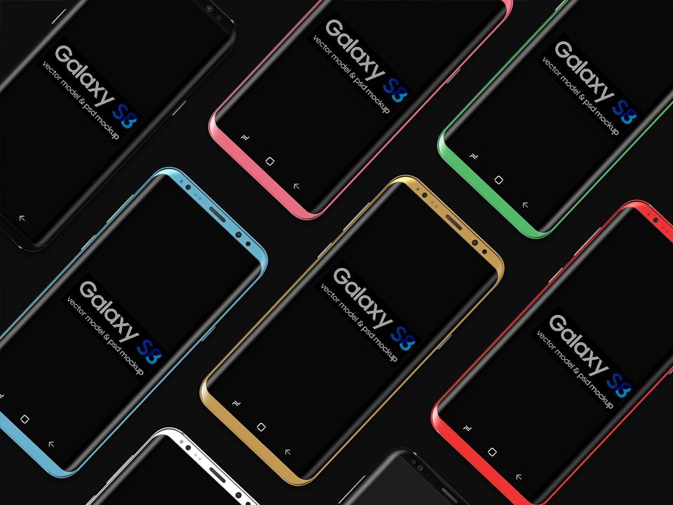Free Galaxy S8 Mockup PSD