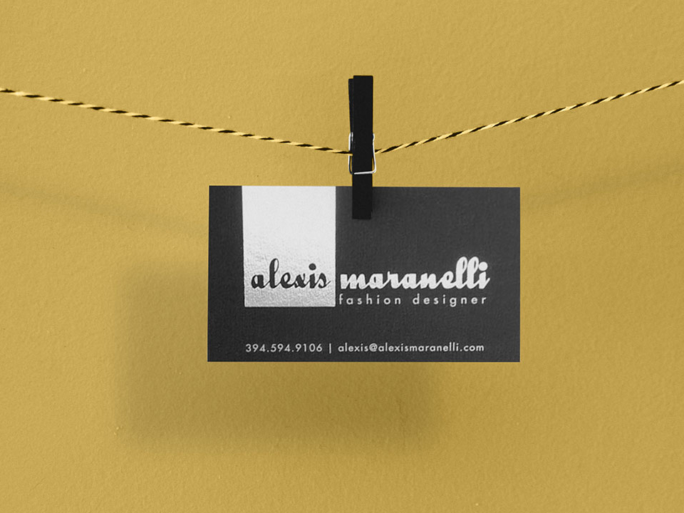 Hanging Business Card Mockup