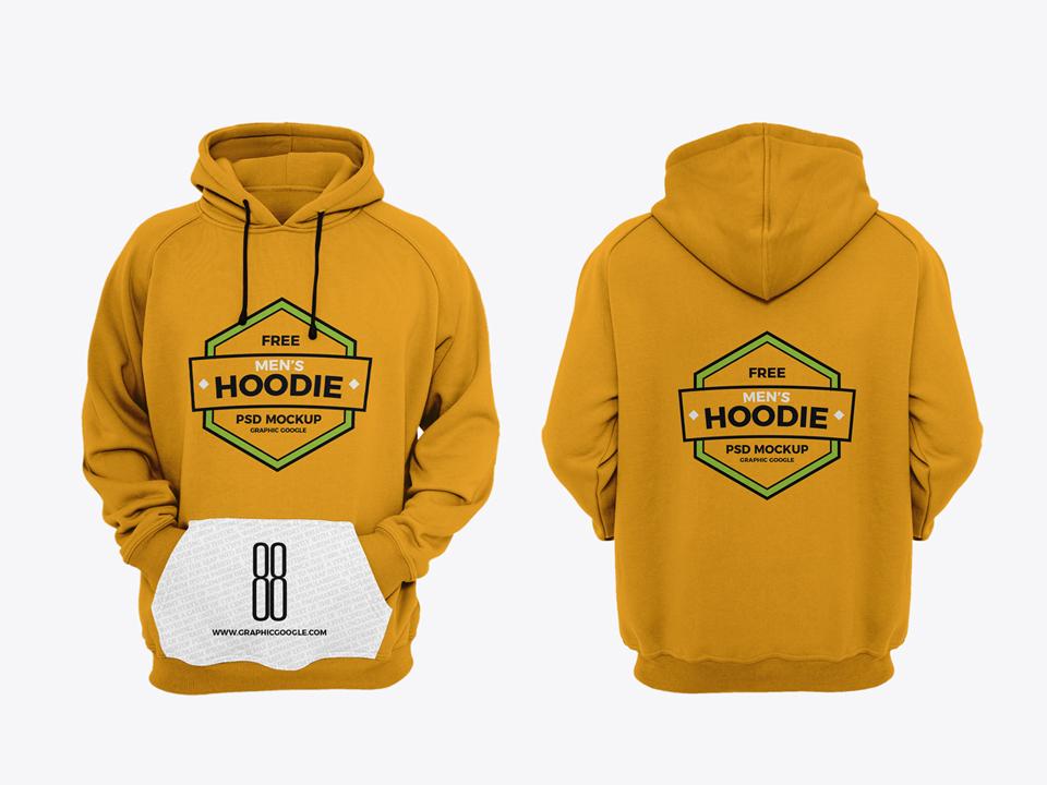 Man Hoodie PSD Mockup