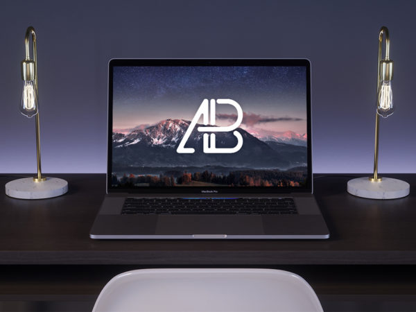 New MacBook Pro on Desk Mockup  mockup, free mockup, psd mockup, mockup psd, free psd, psd, download mockup, mockup download, photoshop mockup, mock-up, free mock-up, mock-up psd, mockup template, free mockup psd, presentation mockup, branding mockup, free psd mockup