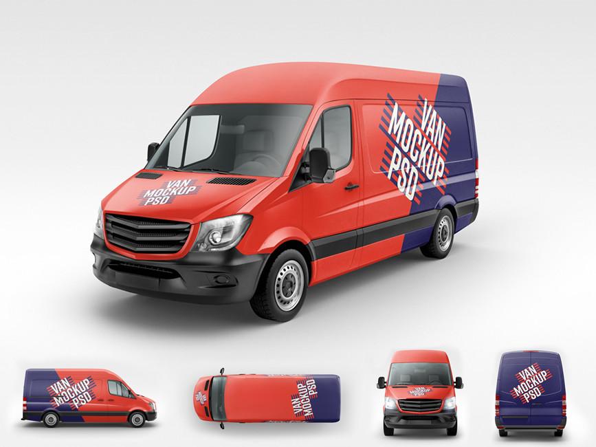 Commercial Van Branding Mockup