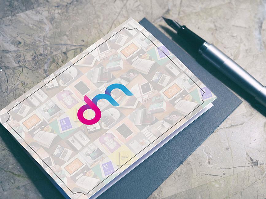 Horizontal Postcard Mockup PSD