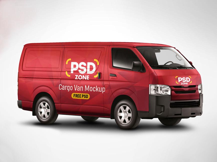 Toyota Van Wrap PSD Mockup