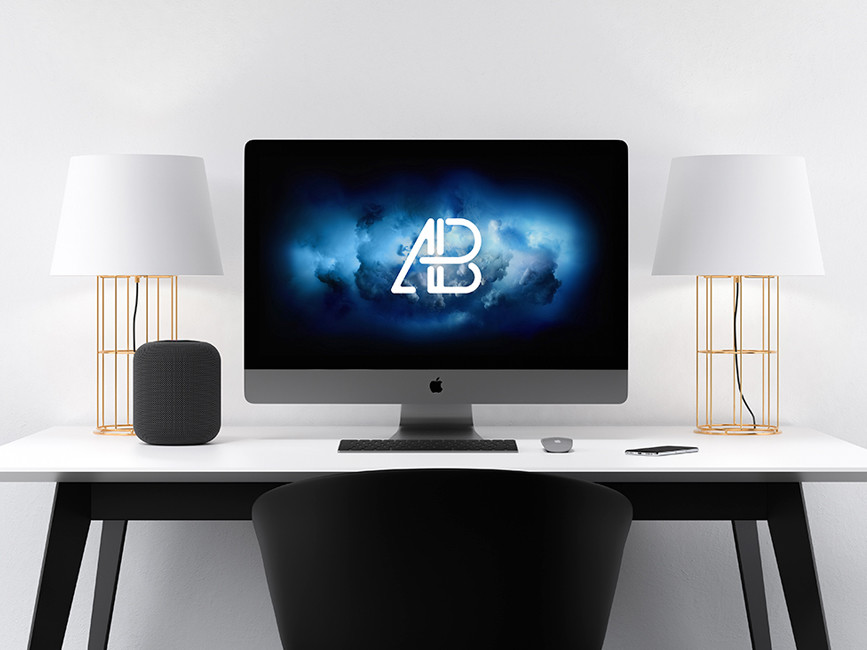 Apple iMac Pro Mockup PSD