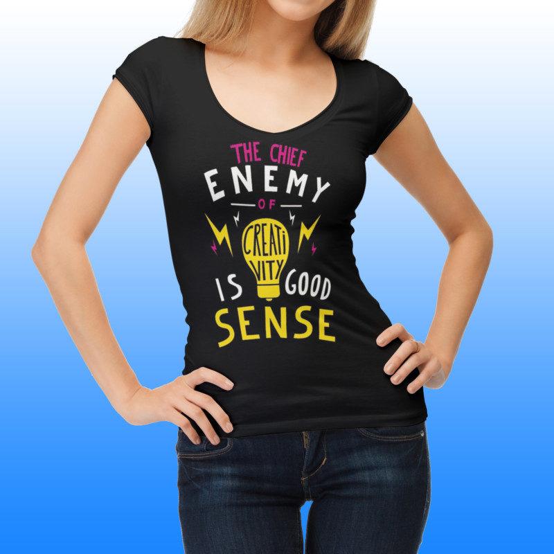 Girl T-Shirt PSD Mockup