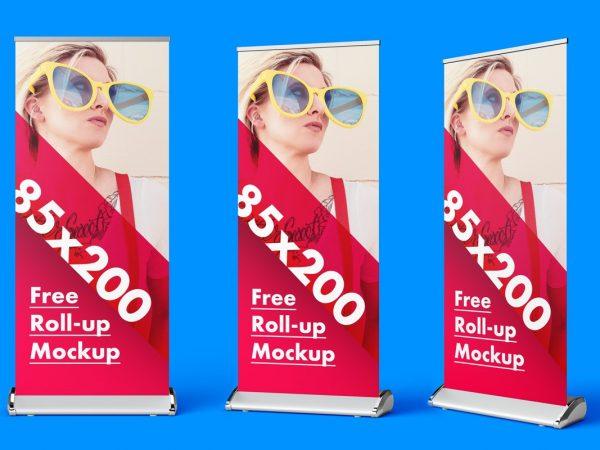 Roll-up Banner PSD Mockup Set  mockup, free mockup, psd mockup, mockup psd, free psd, psd, download mockup, mockup download, photoshop mockup, mock-up, free mock-up, mock-up psd, mockup template, free mockup psd, presentation mockup, branding mockup, free psd mockup