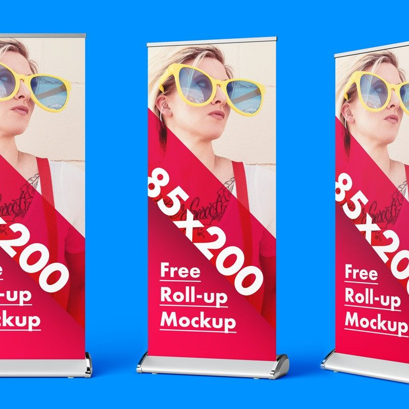 Roll-up Banner PSD Mockup Set