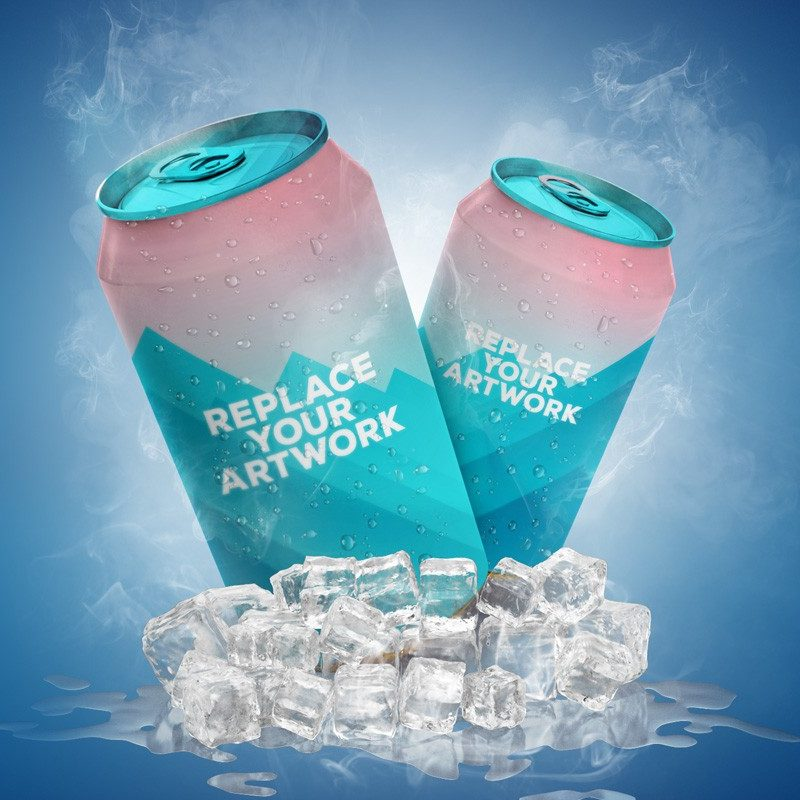 Aluminum Soft Drink Can Mockup