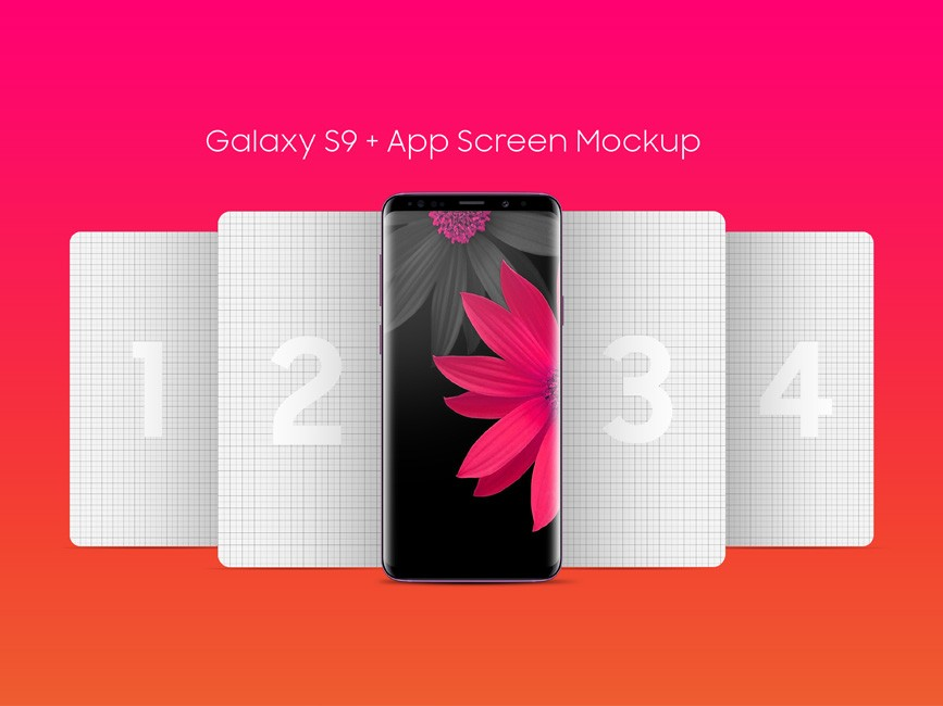 Free Galaxy S9 App Screen Mockup
