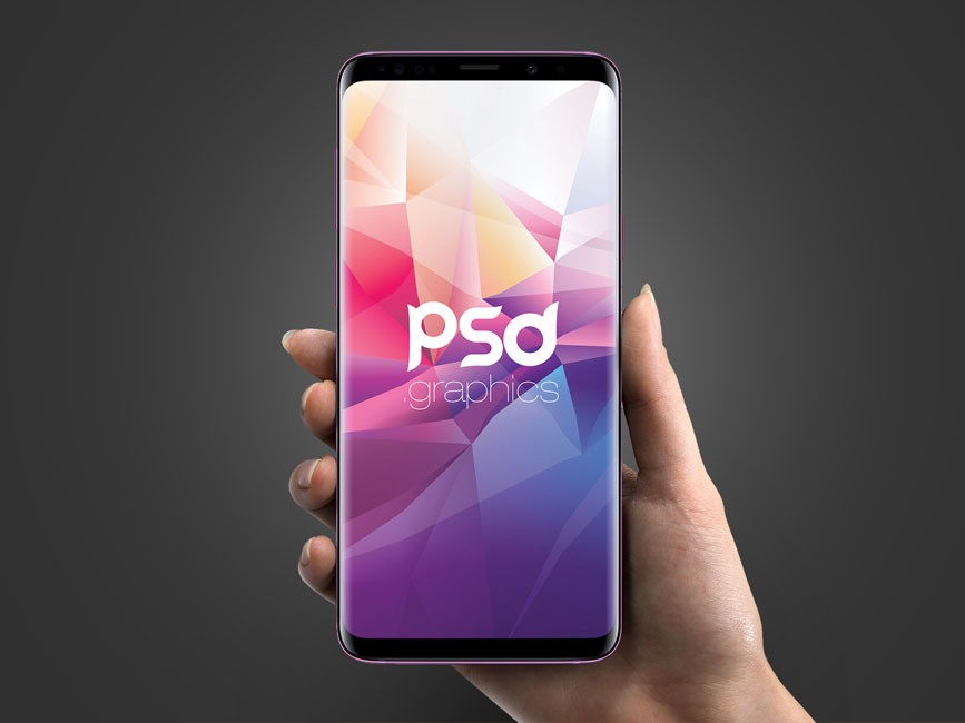Galaxy S9 in Hand Mockup