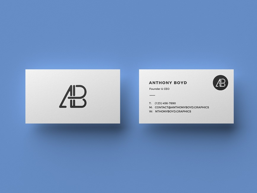 Clean Business Card Mockup - Mockup Love