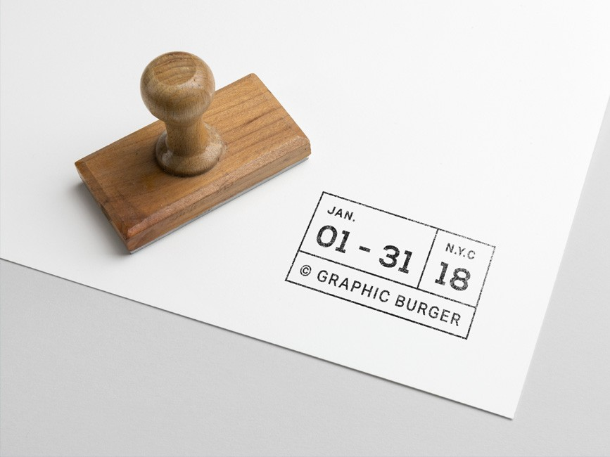 Free Rubber Stamp PSD Mockup