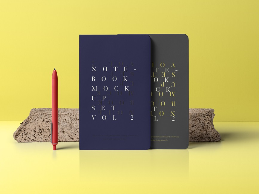 Notebook Cover PSD Mockup