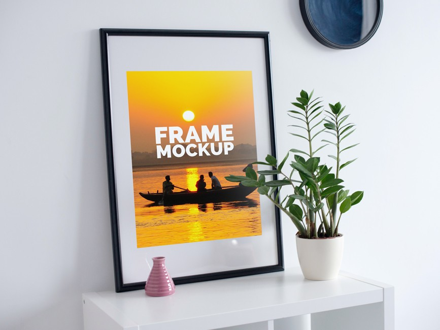 Poster Photo Frame Mockup PSD