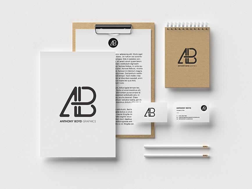 Office Branding Identity Mockup