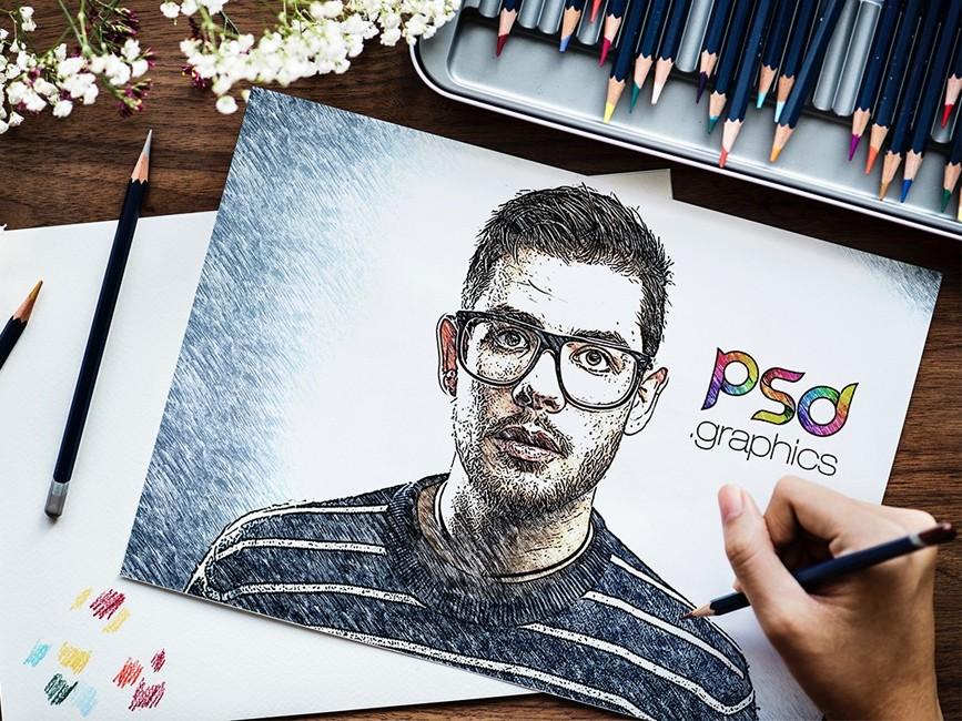 Sketch Effect PSD Mockup