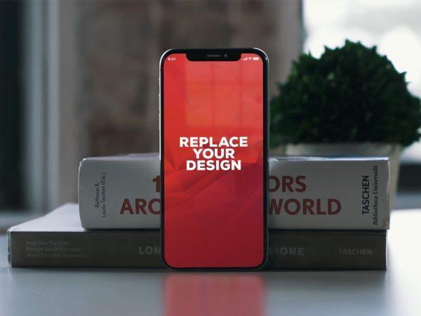 iPhone X with Books Free Mockup  mockup, free mockup, psd mockup, mockup psd, free psd, psd, download mockup, mockup download, photoshop mockup, mock-up, free mock-up, mock-up psd, mockup template, free mockup psd, presentation mockup, branding mockup, free psd mockup