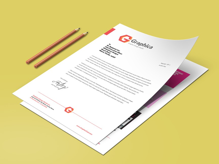 A4 Size Paper Resume Mockup