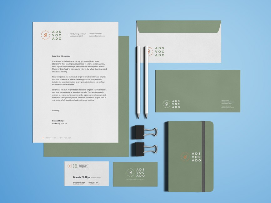 Office Stationery Branding Mockup