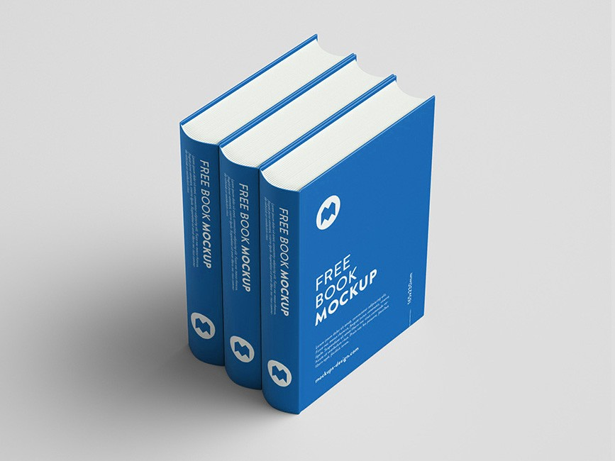 Thick Book Hard Cover Mockup Set