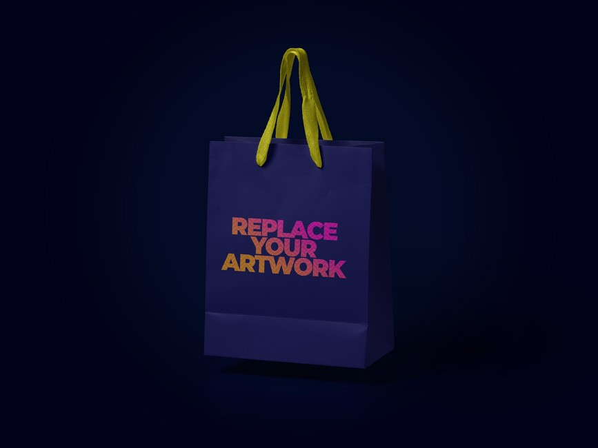 Floating Shopping Bag Mockup