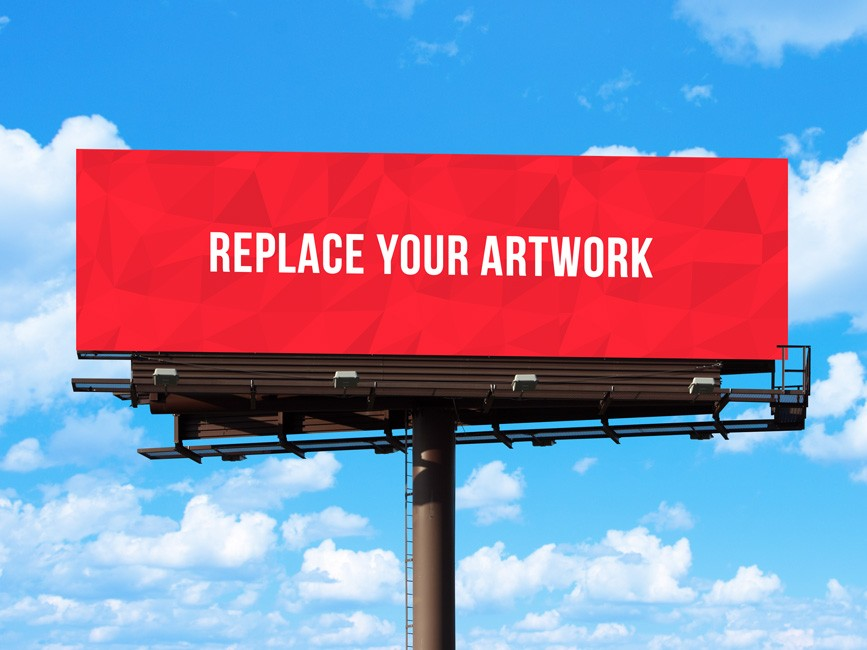 Outdoor Advertisement Hoarding Billboard Mockup