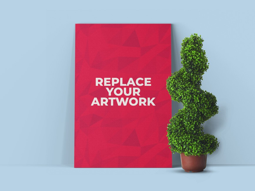 Poster Canvas Showcasing Mockup