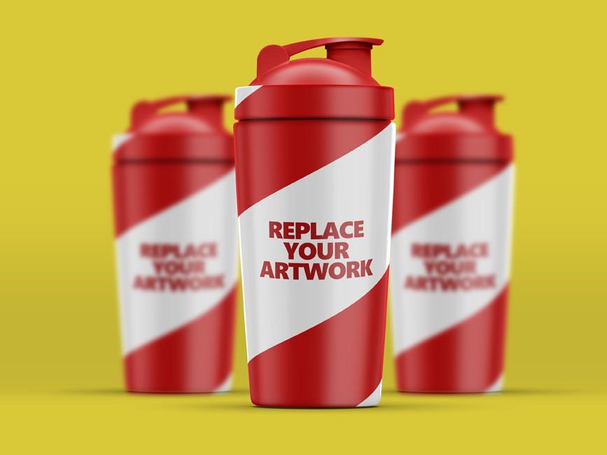Protein Shaker Bottle Mockup
