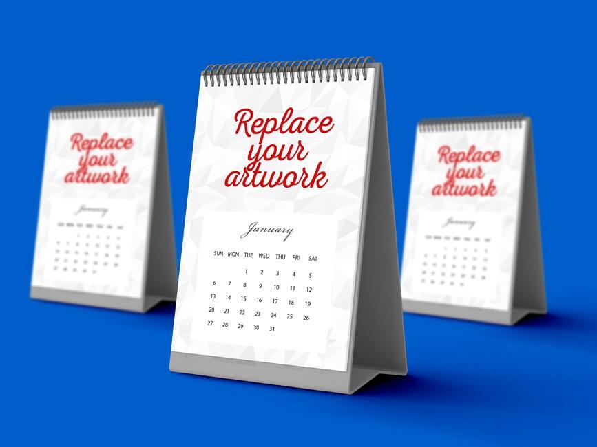 Vertical Desk Calendar Mockup