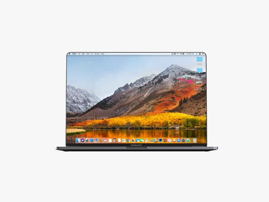 Bezel-Less MacBook Pro Mockup