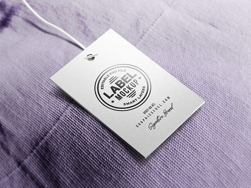 clothing label tag mockup mockup love