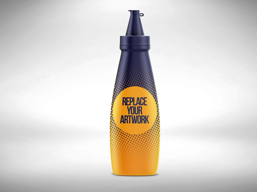 Plastic Sauce Bottle Mockup