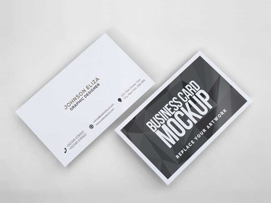 Simple Business Cards Mockup