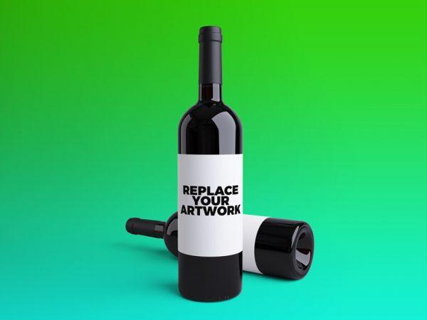 Wine Bottles PSD Mockup  mockup, free mockup, psd mockup, mockup psd, free psd, psd, download mockup, mockup download, photoshop mockup, mock-up, free mock-up, mock-up psd, mockup template, free mockup psd, presentation mockup, branding mockup, free psd mockup