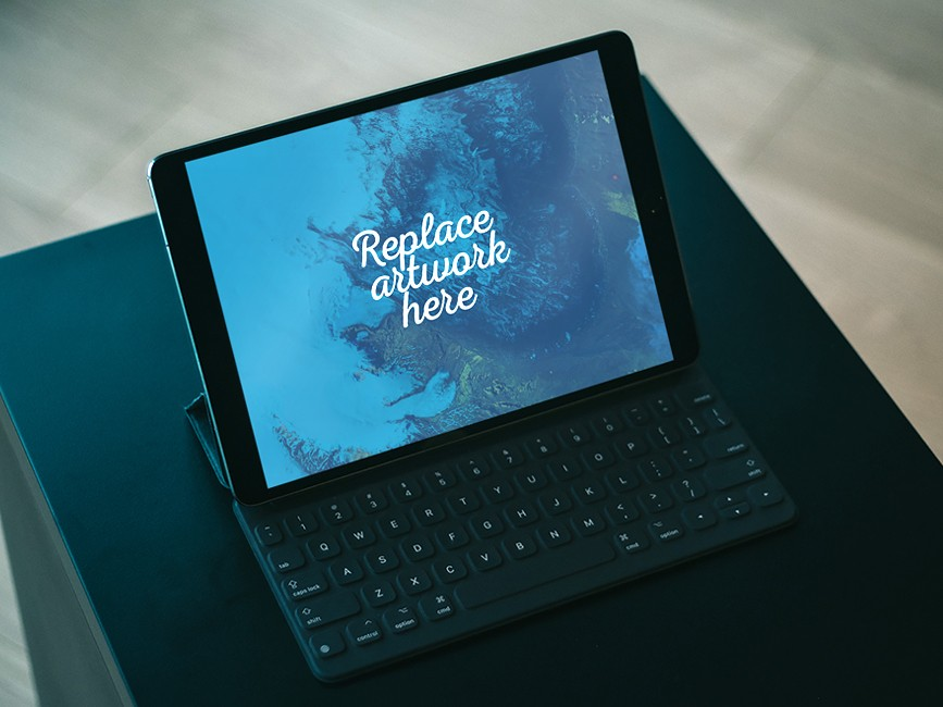 iPad Pro with Keyboard Mockup