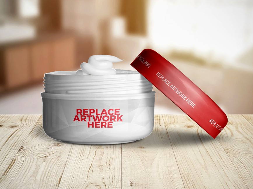 Cosmetic Jar Packaging Mockup