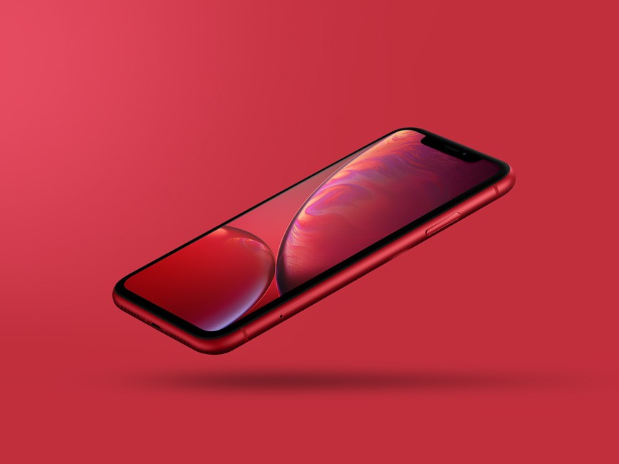 Floating iPhone Xr Mockup