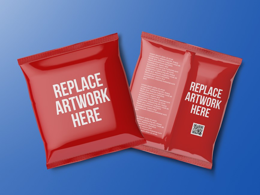Foil Bag Packaging Mockup