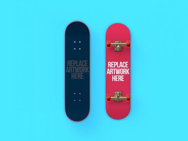 Front and Back Skateboard Mockup  mockup, free mockup, psd mockup, mockup psd, free psd, psd, download mockup, mockup download, photoshop mockup, mock-up, free mock-up, mock-up psd, mockup template, free mockup psd, presentation mockup, branding mockup, free psd mockup
