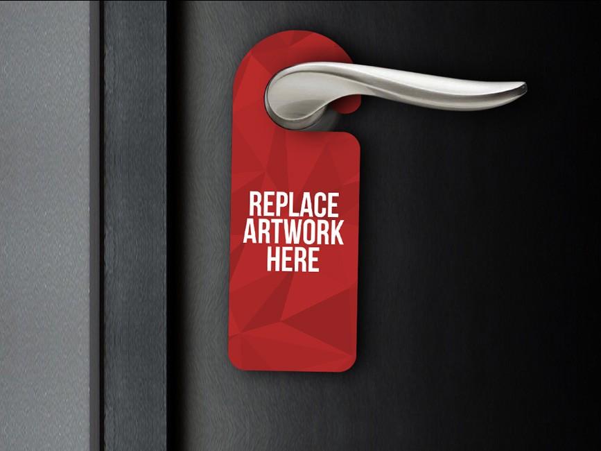 Realistic Door Hanger Mockup