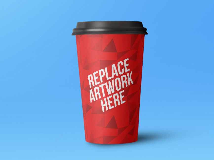 Large Size Paper Cup Mockup