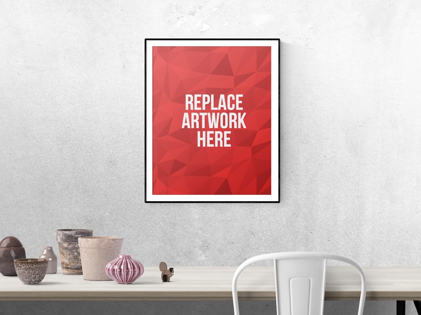 Realistic Poster or Photo Frame Mockup